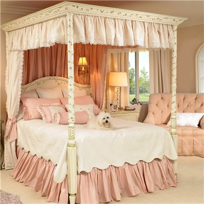 girls romantic bedroom floral afk