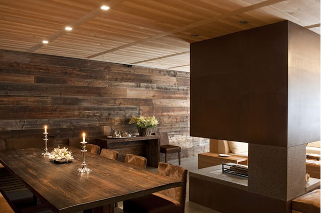 modern House interiors in Cortina d'Ampezzo Italy