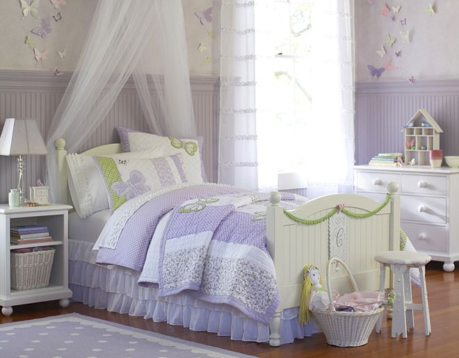 rustic romantic girls room white furniture set