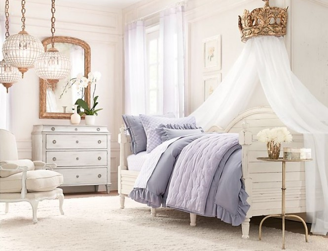Girls Room Ideas Part - 27: Rustic White Romantic Girls Room Ideas