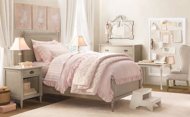 rustic white romantic girls room 7 ideas