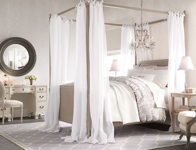 rustic white romantic girls room 8 ideas