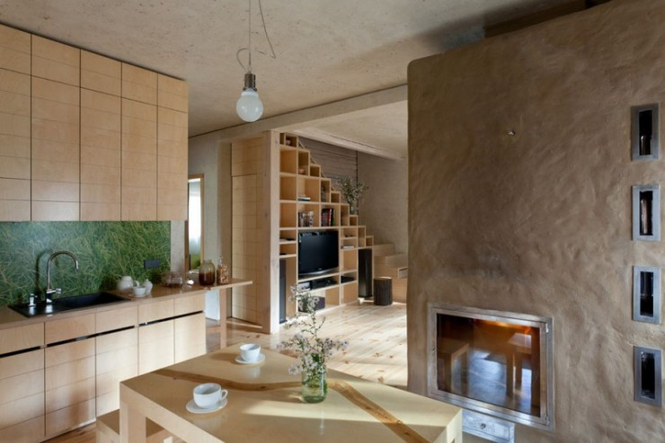 House in the Log Cabin by Ryntovt Design