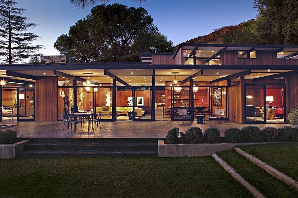 la ca u00f1ada mid century house by jamie bush