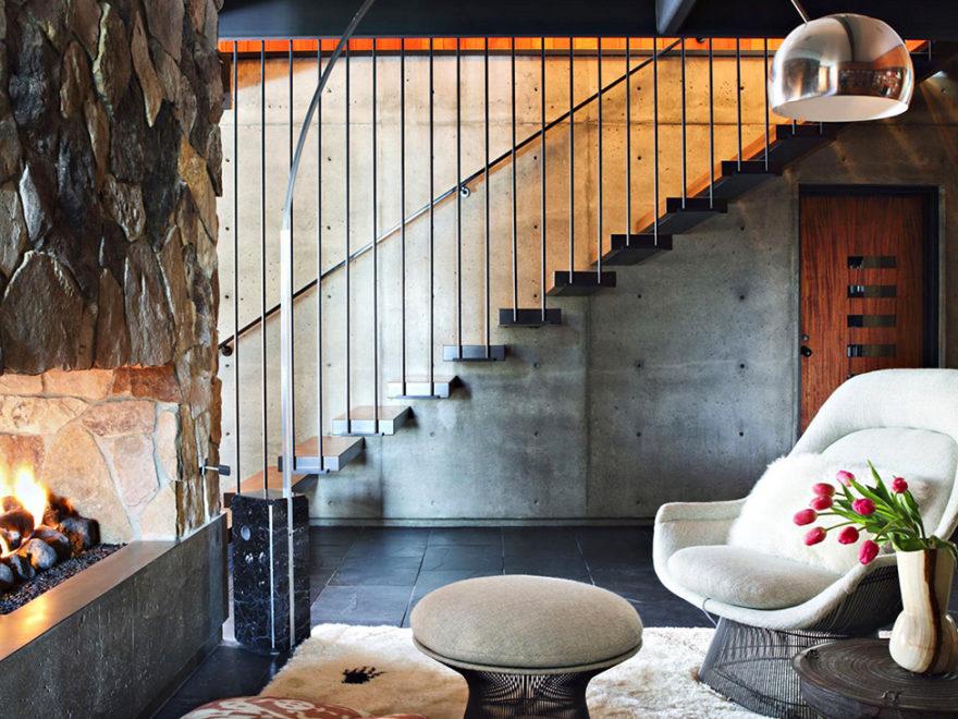La Cañada Mid Century House interiors by Jamie Bush