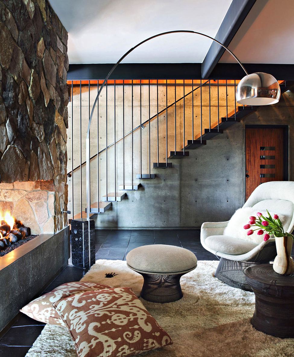La Cañada Mid Century House interiors by Jamie Bush