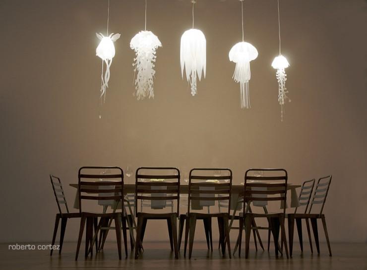 ocean inspired meduasae pendant lamps 2