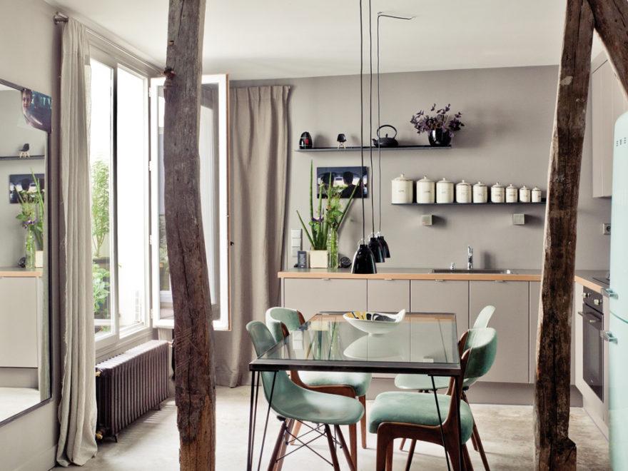 attic house interior design in paris