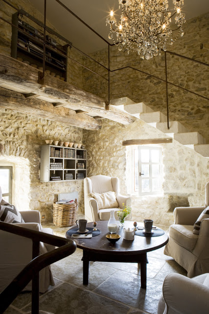 Antique Farm Turned Into Dream Stone House 2 interiors