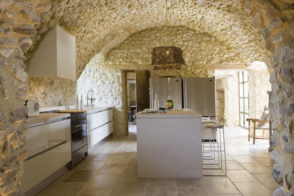 Antique Farm Turned Into Dream Stone House 5 interiors