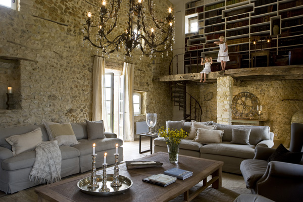 antique farm turned into dream stone house interiors