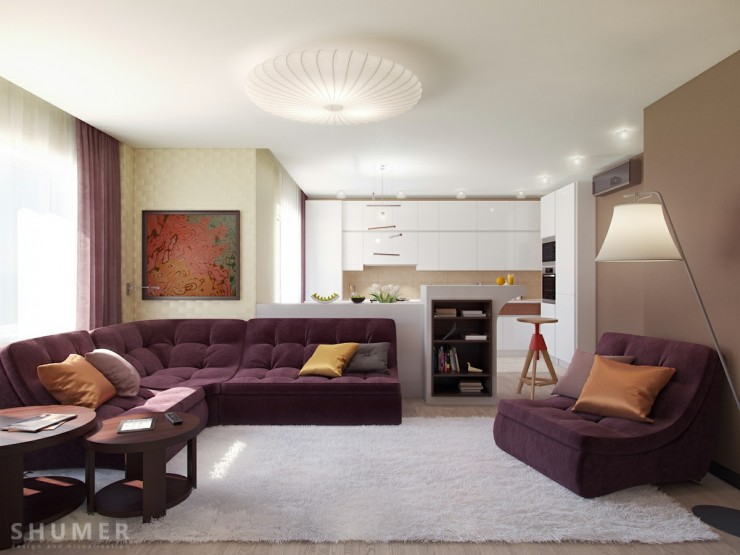 Earth Tones Living Room 4 contemporary Designs
