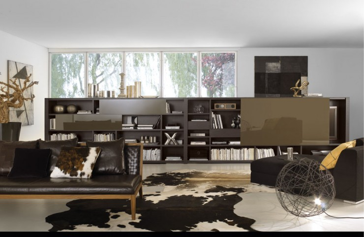 earth brown colors living room design