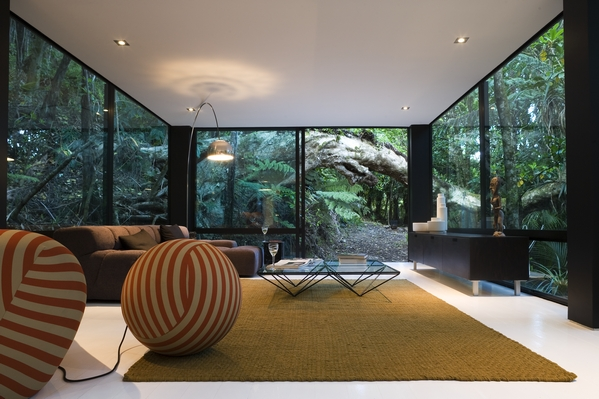 A glass structure into an amazing forest decoholic for Rooms interior design hamilton nz