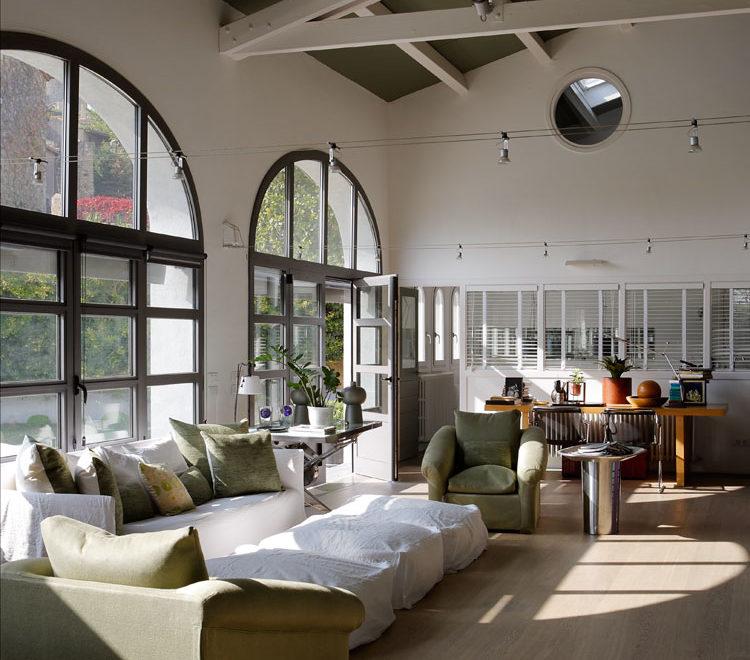 bright home with white beams girona interiors