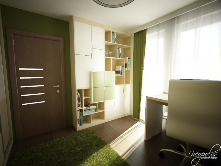 green and creme kids room by neopolis