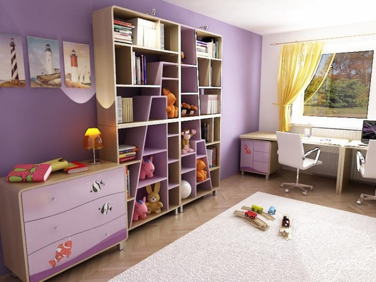 purple kids room 23 design by neopolis