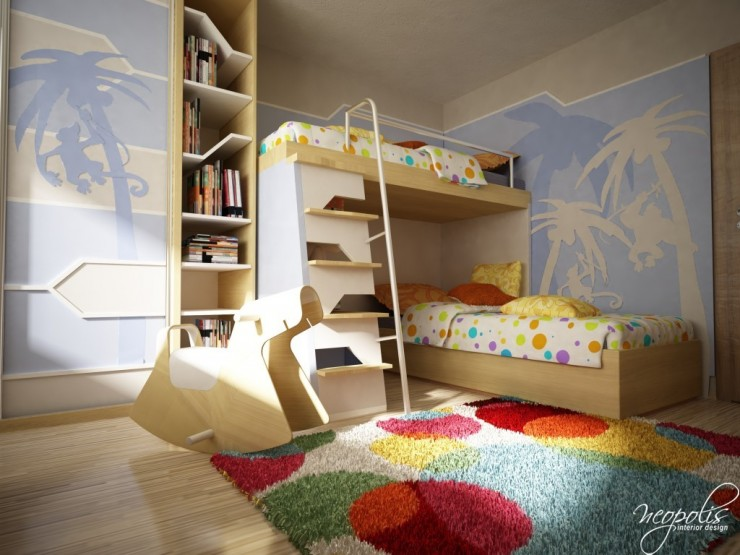 kids room design with bunkbed by neopolis