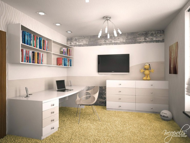 white kids room by neopolis