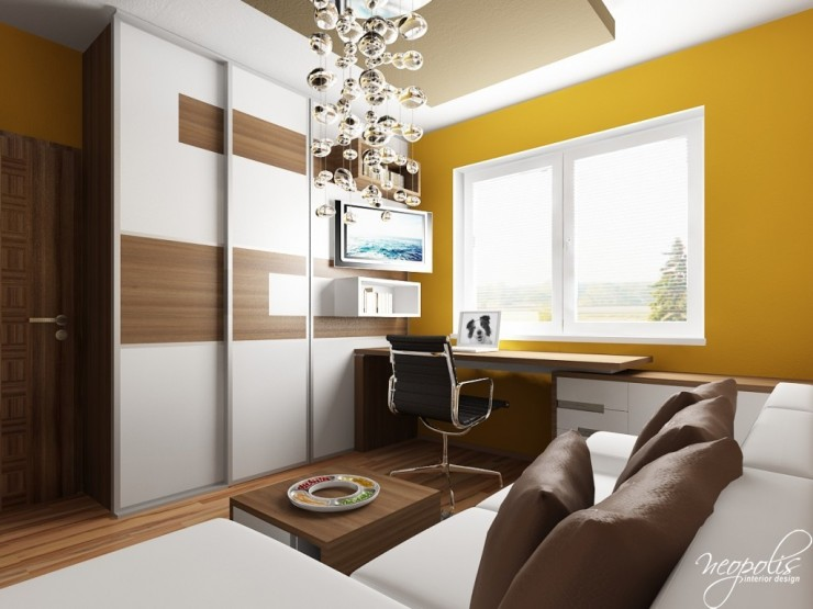 white brown and yellow kids room 33 design by neopolis