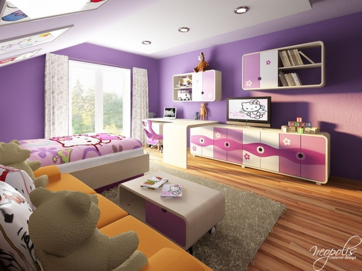well designed purple painter kids room by neopolis