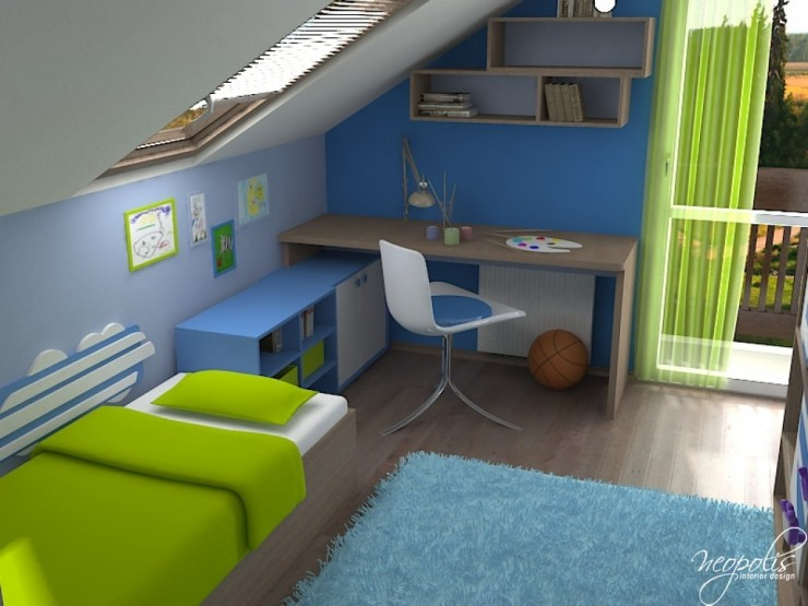 blue and green kids room 36 by neopolis