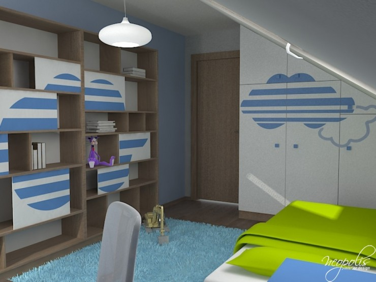 blue and green kids room 37 by neopolis
