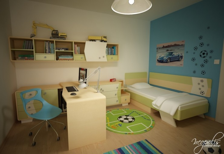 simple boys room by neopolis