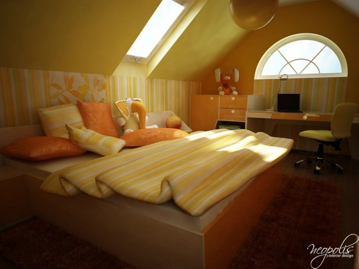yelloe and orange kids room 39 by neopolis