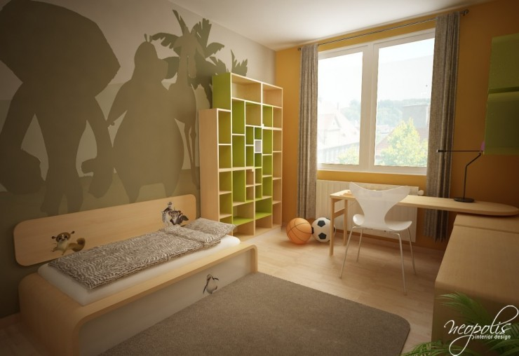 fresh beige kids room by neopolis