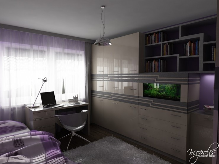 light purple and grey girls room 44 by neopolis