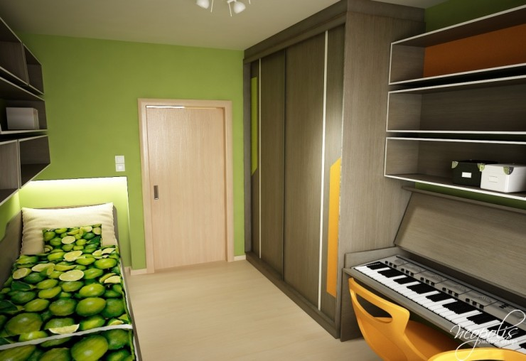 orange and green kids room 50 by neopolis