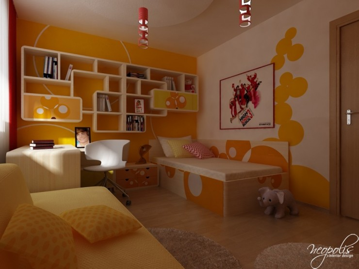 orange kids room 51 by neopolis