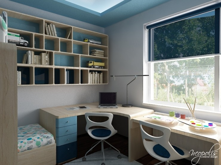 blue kids room design 65 by neopolis