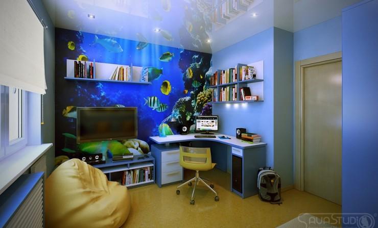 aquarium sea theme kids room by sava studio