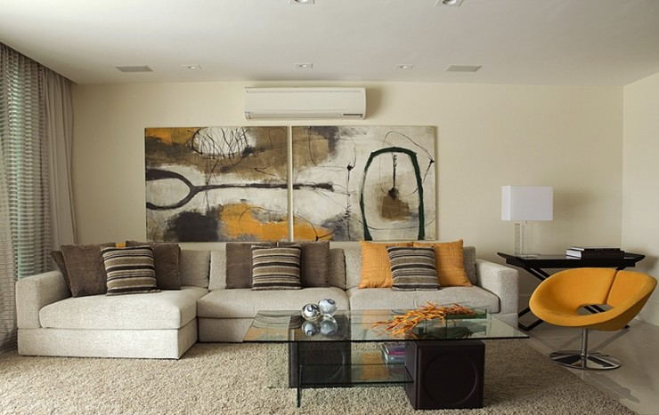 earth tones living room by angela Barquete
