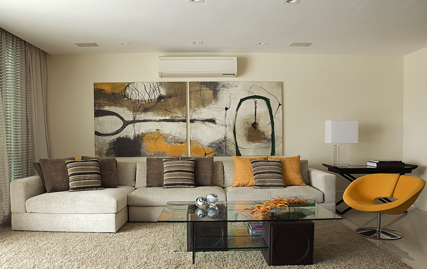 earth tones living room by angela barquete - Living Room