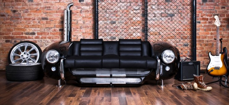 sofa by Real Car Parts 13  Unique Furniture made by Real Car Parts sofa 13 Made by Real Car Parts