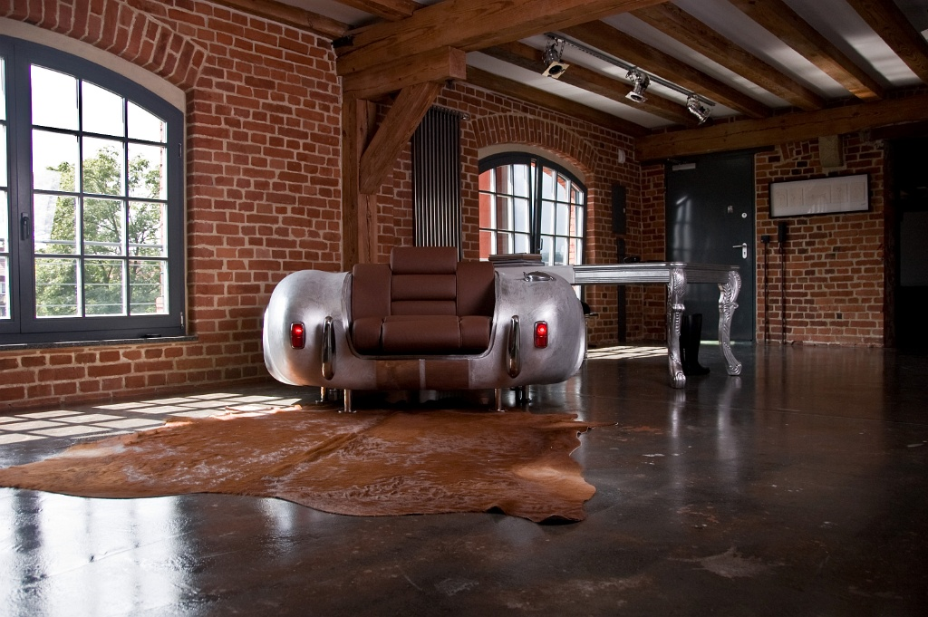 Unique Furniture Collection Made By Real Car Parts Miami