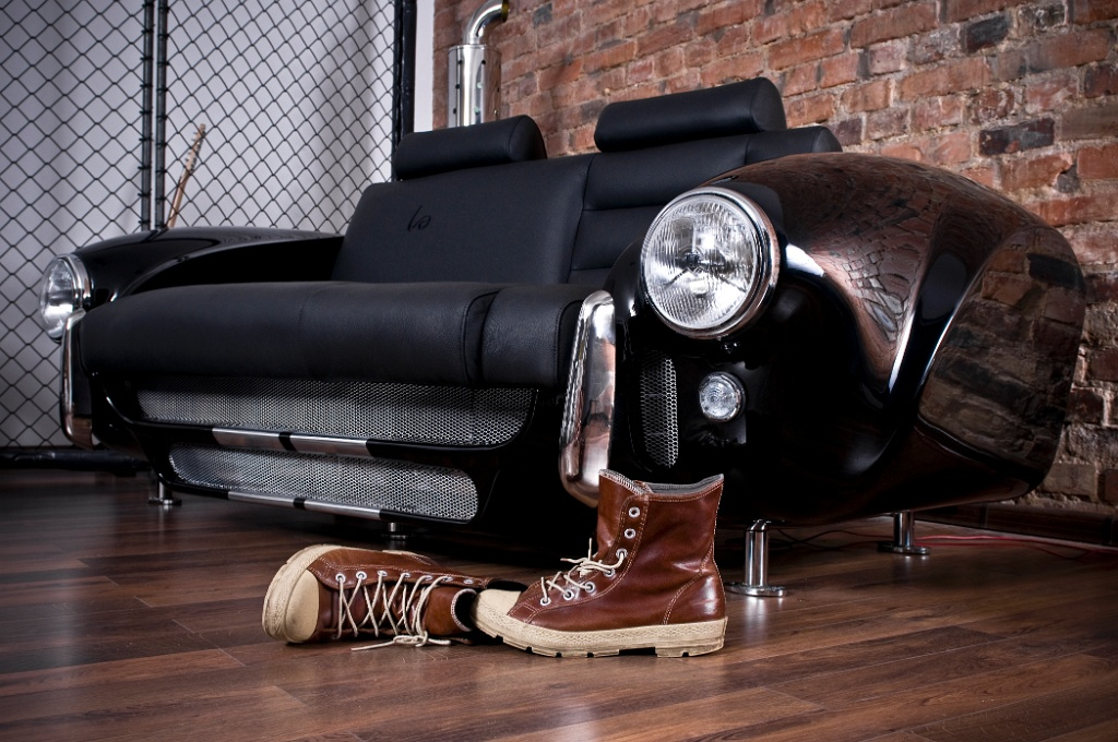 Luxury furniture collection made by real car parts decoholic for Furniture made from cars