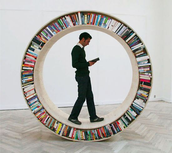 Circular Walking Bookshelf 2