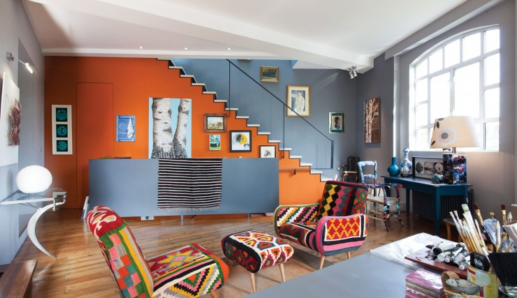 Colorful Penthouse With Creative Design