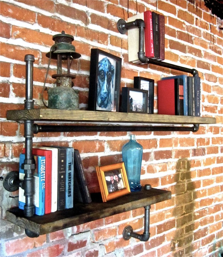 Industrial Pipe Shelf 2