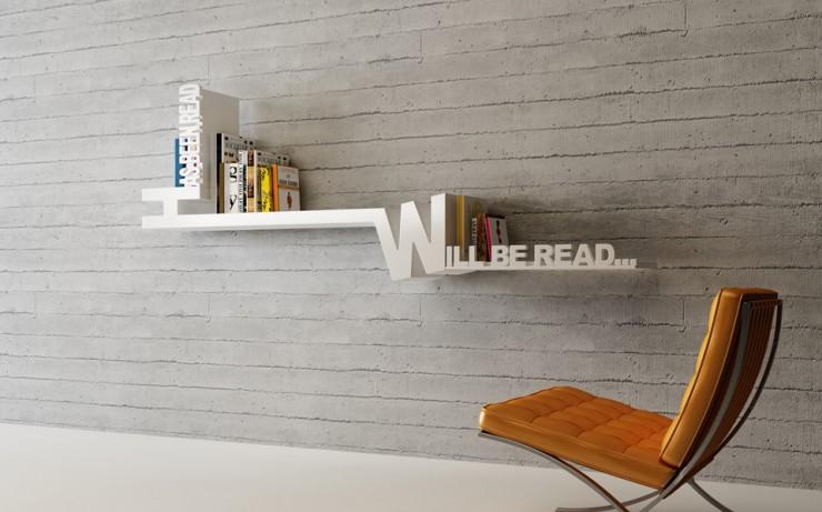 Typographic Bookshelf mebrureoral