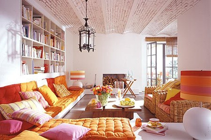 Boho Chic Orange Living Room 25 Ideas