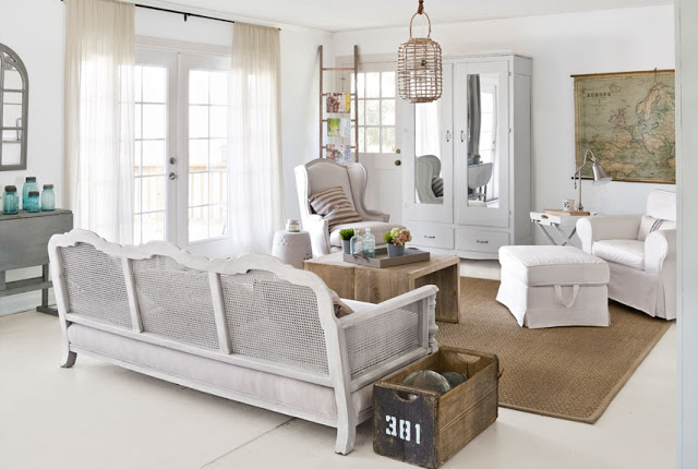 37 dream shabby chic living room designs decoholic for Minimalist cottage style