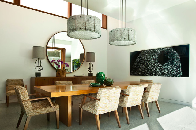 contemporary dining room by Stephanie Wohlner