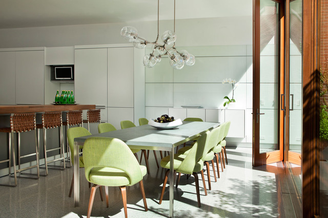 contemporary kitchen-dining room by Stephanie Wohlner