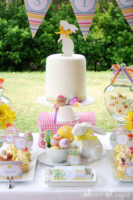 easter decorating cake