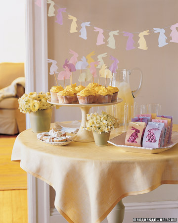 easter party decorations pastel garland